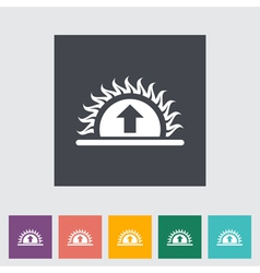 Icon sunrise vector