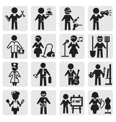 Occupations and professions set vector
