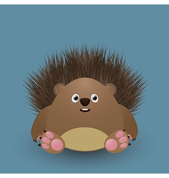 Cute baby hedgehog vector