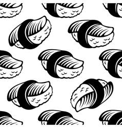 Seamless sushi pattern vector