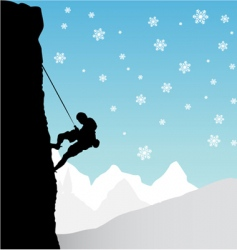 Climber mountaineer vector