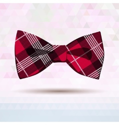 Red tartan bow-tie vector