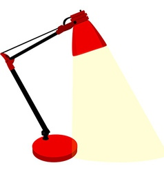 Red table lamp vector