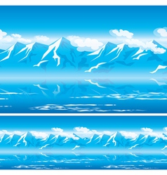 Mountains in the sun vector
