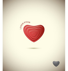 Logo heart symbol icon web vector
