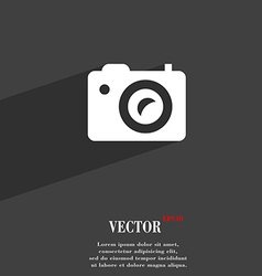 Digital photo camera icon symbol flat modern web vector
