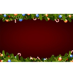 Christmas frame with fir tree vector