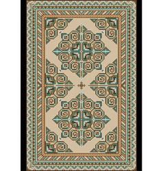 Antique light colored carpet vector