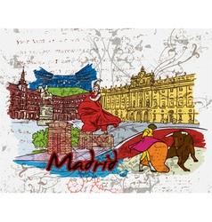 Madrid doodles vector