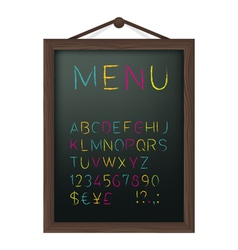 Cafe menu board vector