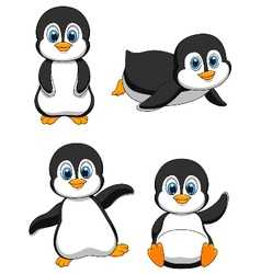 Cute penguin cartoon vector