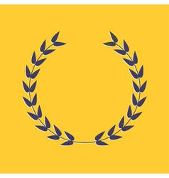 Round laurel foliate award concept flat design sty vector