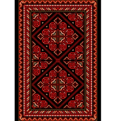 Carpet in the old style with red and burgundy shad vector