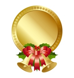 Christmas plaque vector