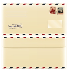 Envelope with stamps vector