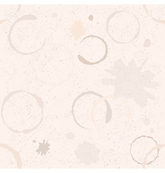 Grunge coffee seamless pattern vector
