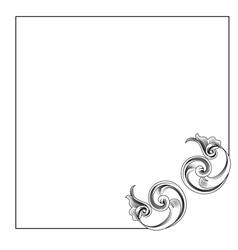 Victorian style corner decoration vector
