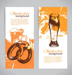 Banners of oktoberfest beer design vector