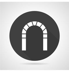 Round arch black icon vector