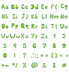 Alphabet figures and signs vector
