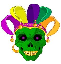 Mardi gras skull vector