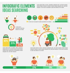 Ideas infographic set vector