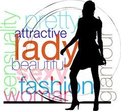 Fashion woman silhouette vector