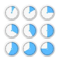 Timer icons on white background vector