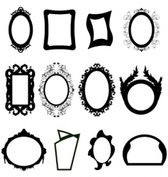 Mirror silhouettes set vector