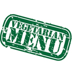 Vegetarian menu stamp vector