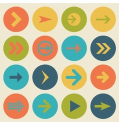 Arrow sign icon set flat design of web design vector