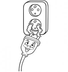 Electric outlet vector