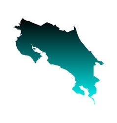Map of costa rica vector