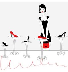 Sexy girl shopping vector