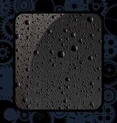 Black water drops vector