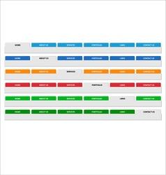 Simple web menu header set vector