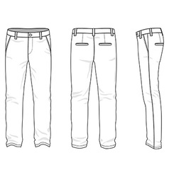 Blank mens chinos vector