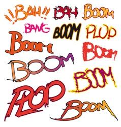Boom text vector