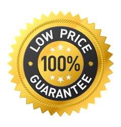 Low price guarantee sticker vector