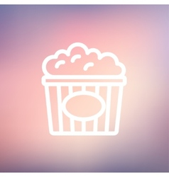 Popcorn thin line icon vector