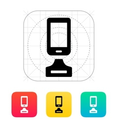Best phone icon on white background vector