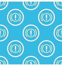 Alert sign blue pattern vector