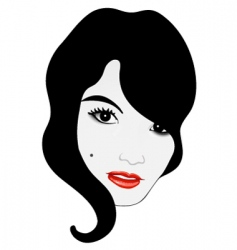 Glamor girl face vector