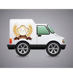 Bakery car design vector