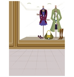 Fashion boutique background vector