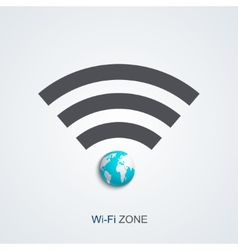 Modern wifi zone icon vector