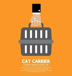 Cat carrier vector