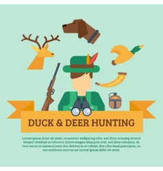 Hunting concept vector