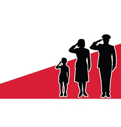 Poland soldier family salute vector