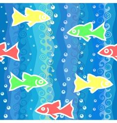 Fish swim in the sea vector